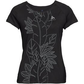Odlo BL Concord Ondergoed bovenlijf Dames, black-flower leaf print ss19